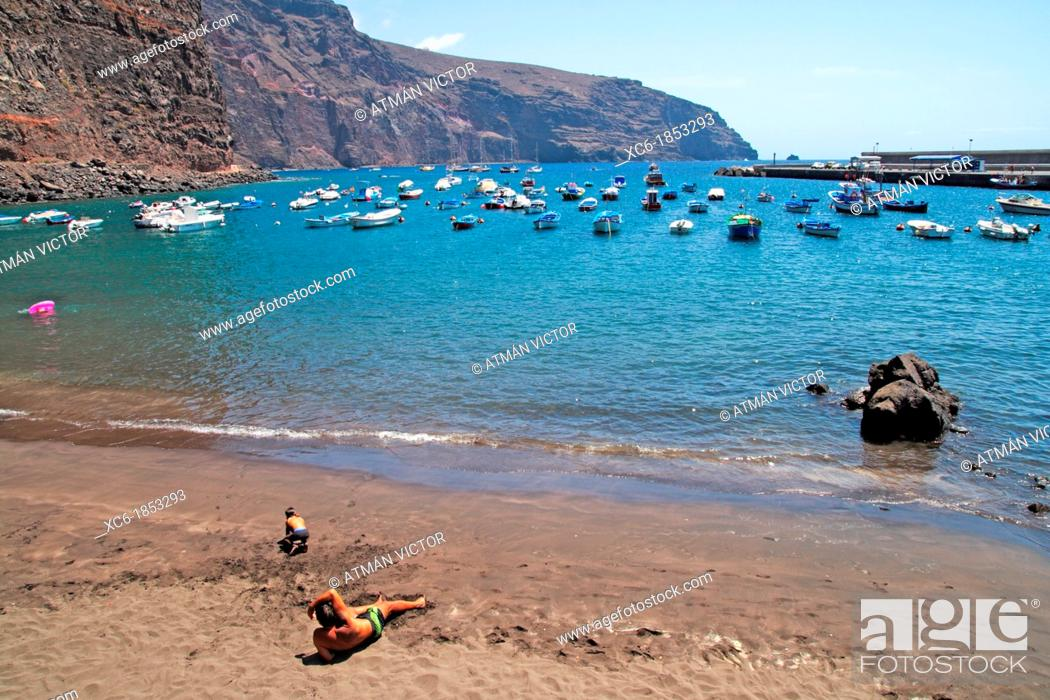 Stock Photo: Las Vueltas beach in La Gomera island.