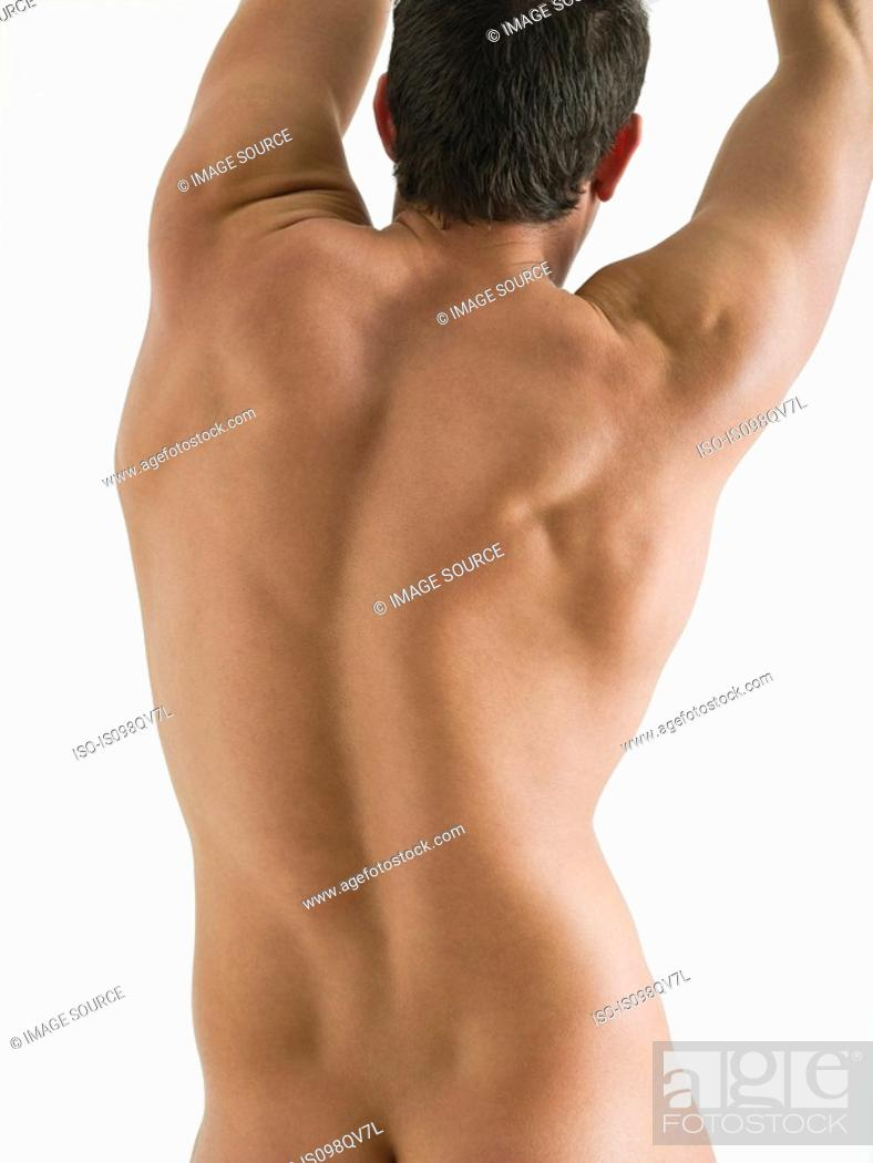 Stock Photo: Rear view of nude man.
