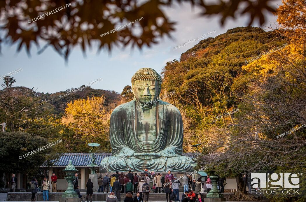 Stock Photo: The Daibutsu (bronze Great Buddha). Kotoku-in Temple, Kamakura, Japan.