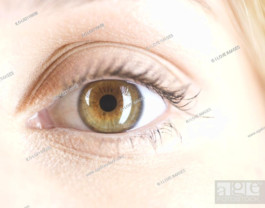 Stock Photo: An eye, close-up.