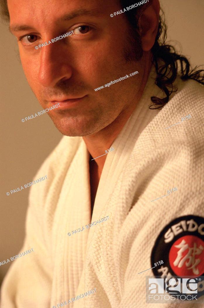 Stock Photo: Man wearing Aikido gi.