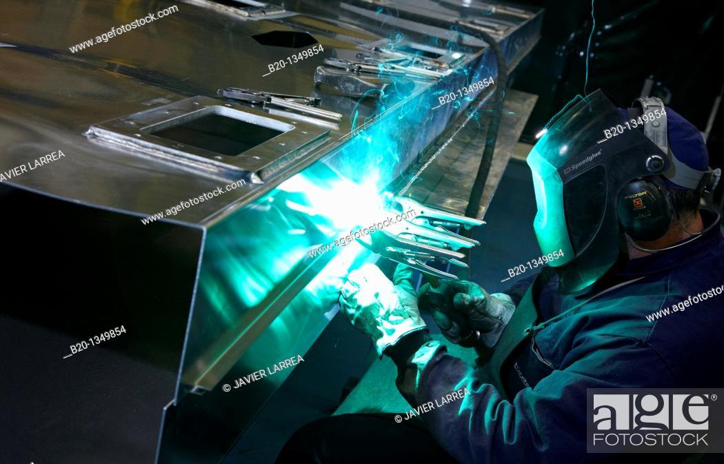 Stock Photo: Welding, boilermaking, metalworking, Gipuzkoa, Euskadi, Spain.