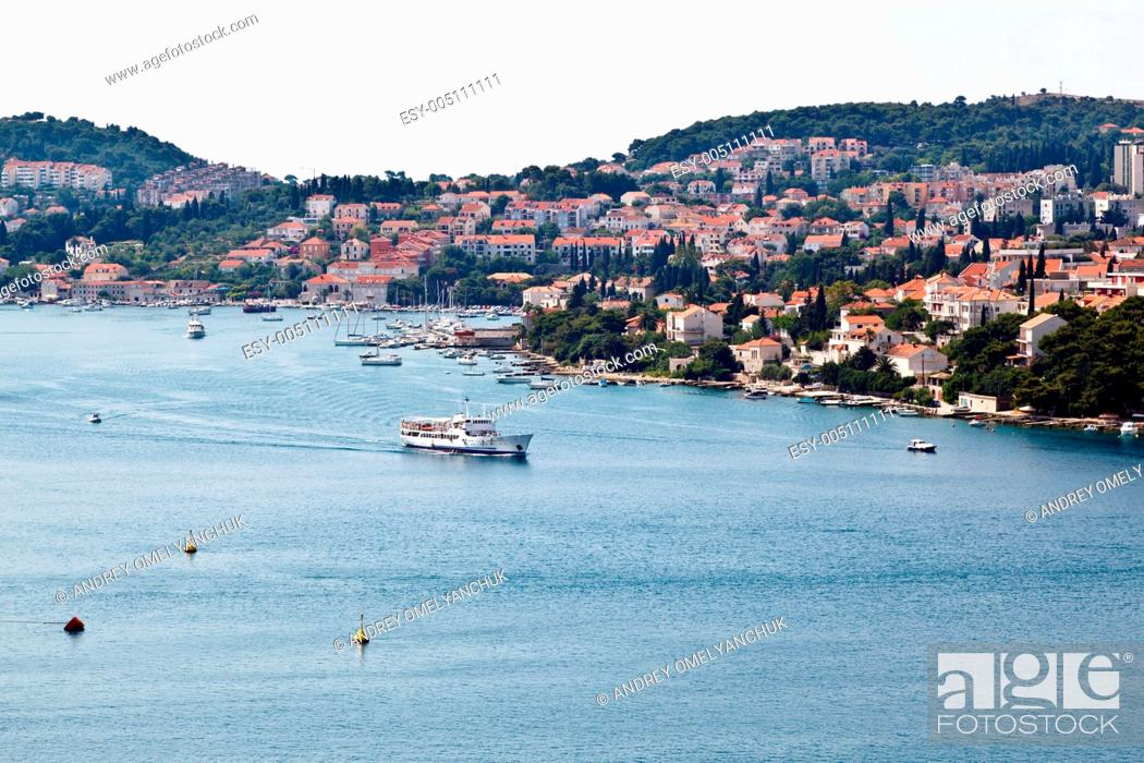 Stock Photo: Panoramic View of Dubrovnik Port in Croatia.