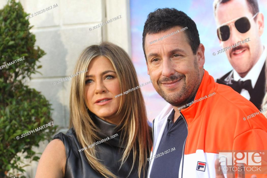 "Stock Photo: Jennifer Aniston, Adam Sandler at Netflix's """"Murder Mystery"""" Premiere held at the Regency Village Theater, Los Angeles, CA, June 10, 2019."