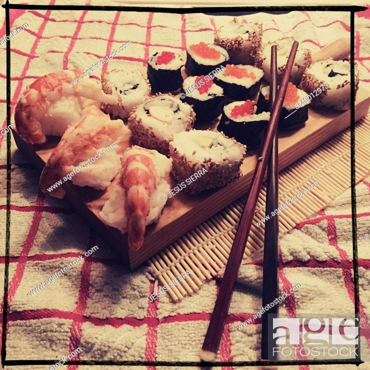 Stock Photo: Japanese food, Sushi.