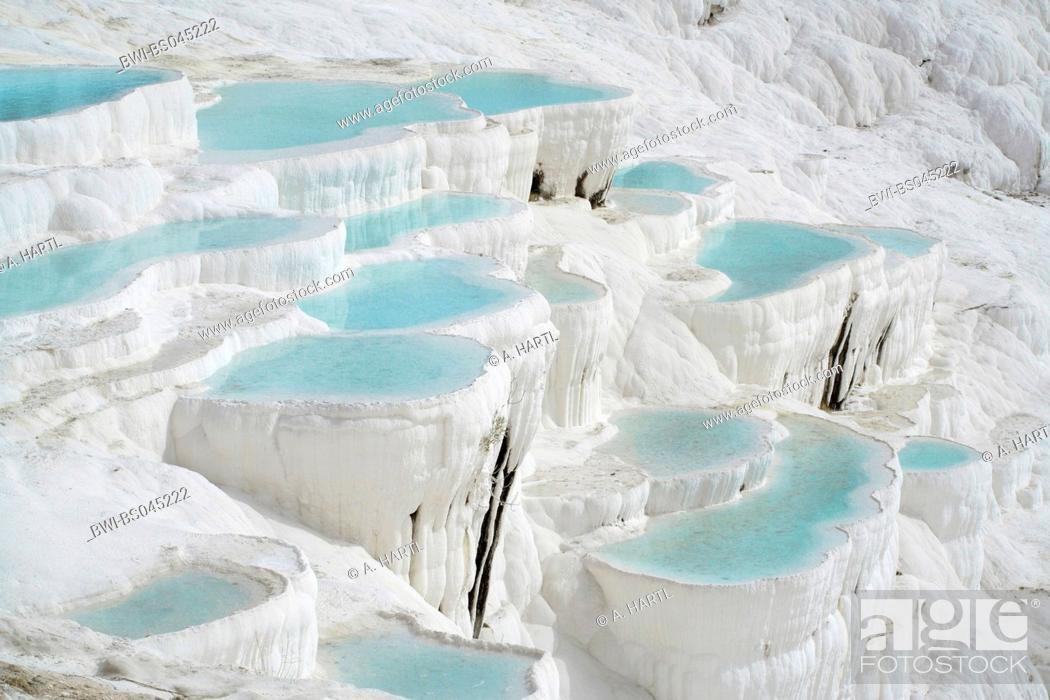 Limestone Terraces With Petrified Water Falls Turkey