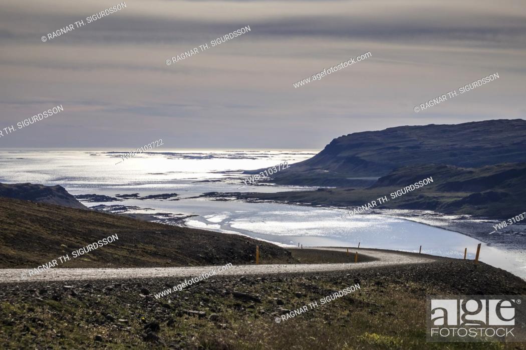 Stock Photo: Countryside Road, Djupifjordur, West Fjords, Iceland.