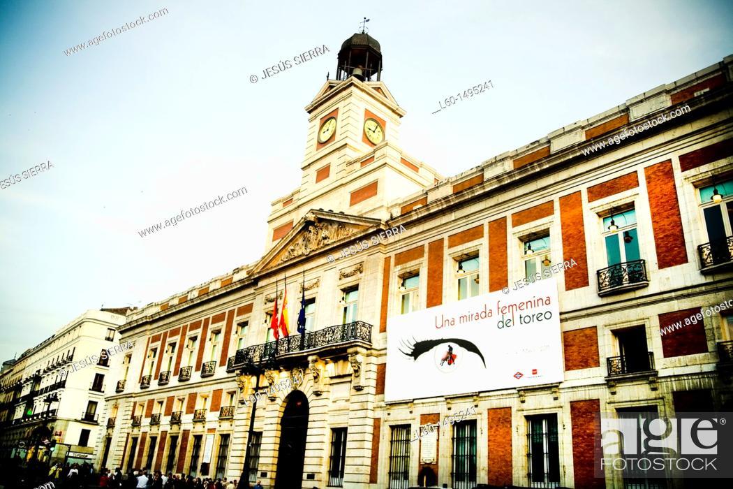 Stock Photo: Puerta del Sol in Madrid, Spain.