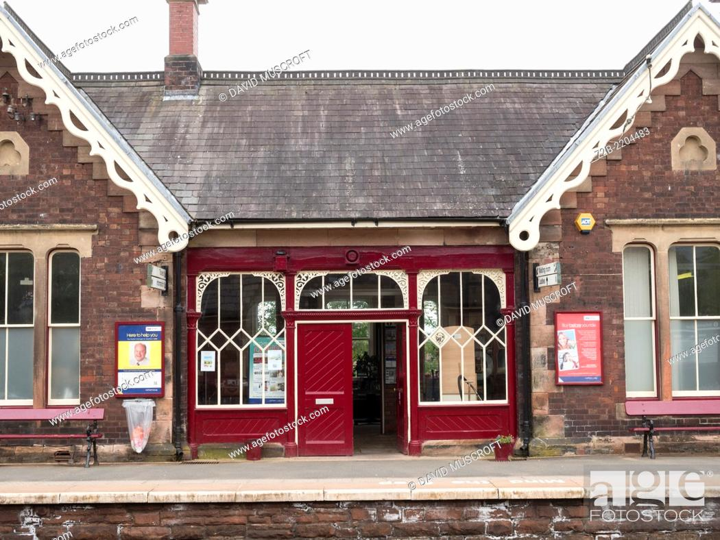 Stock Photo: Appleby station, on the Settle to Carlisle Line, Cumbria, UK.