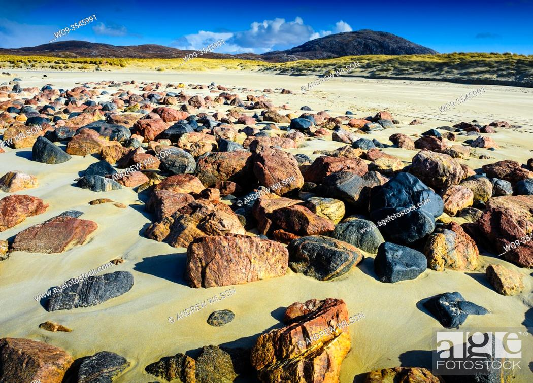 Stock Photo: The beach at Ardroil, Isle of Lewis, Outer Hebrides, Scotland.