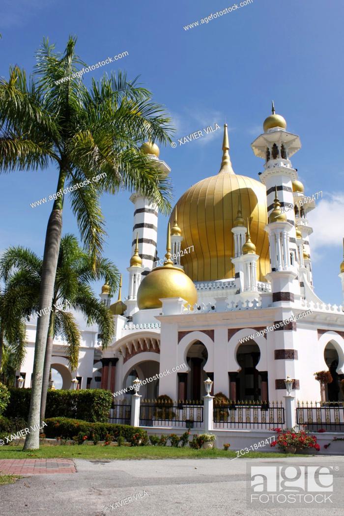 Stock Photo: Great mosque, Kuala Kangsar, Perak, Malaysia.
