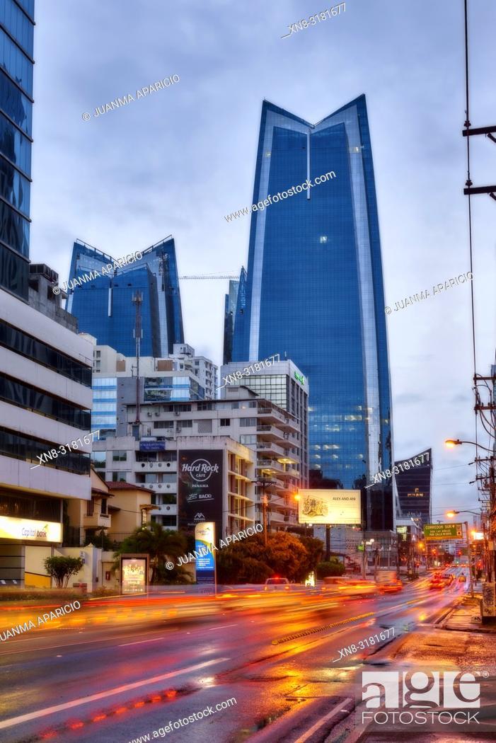 Stock Photo: 50th Street, Panama City, Republic of Panama, Central America, America.