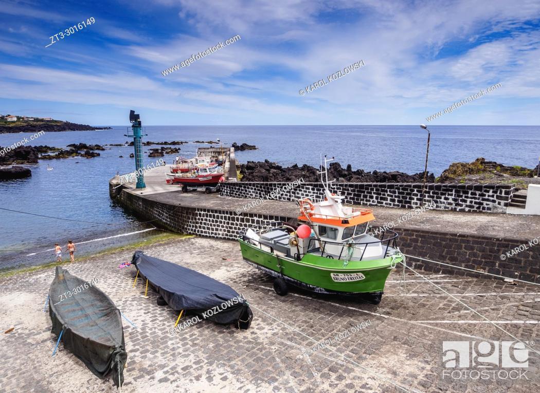 Stock Photo: Port in Calheta de Nesquim, Pico Island, Azores, Portugal.