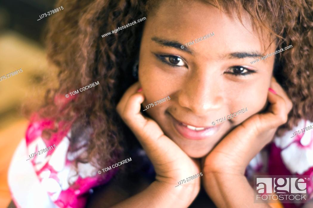 Stock Photo: Young African woman portrait.