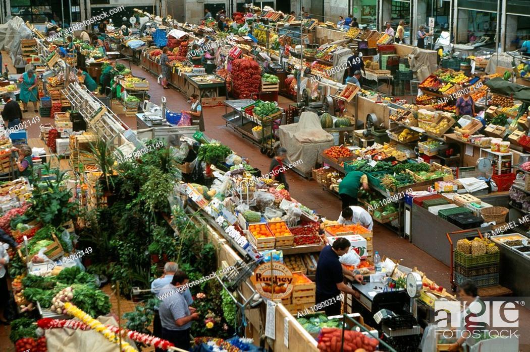 Stock Photo: Portugal - Lisbon - Mercado da Ribeira.