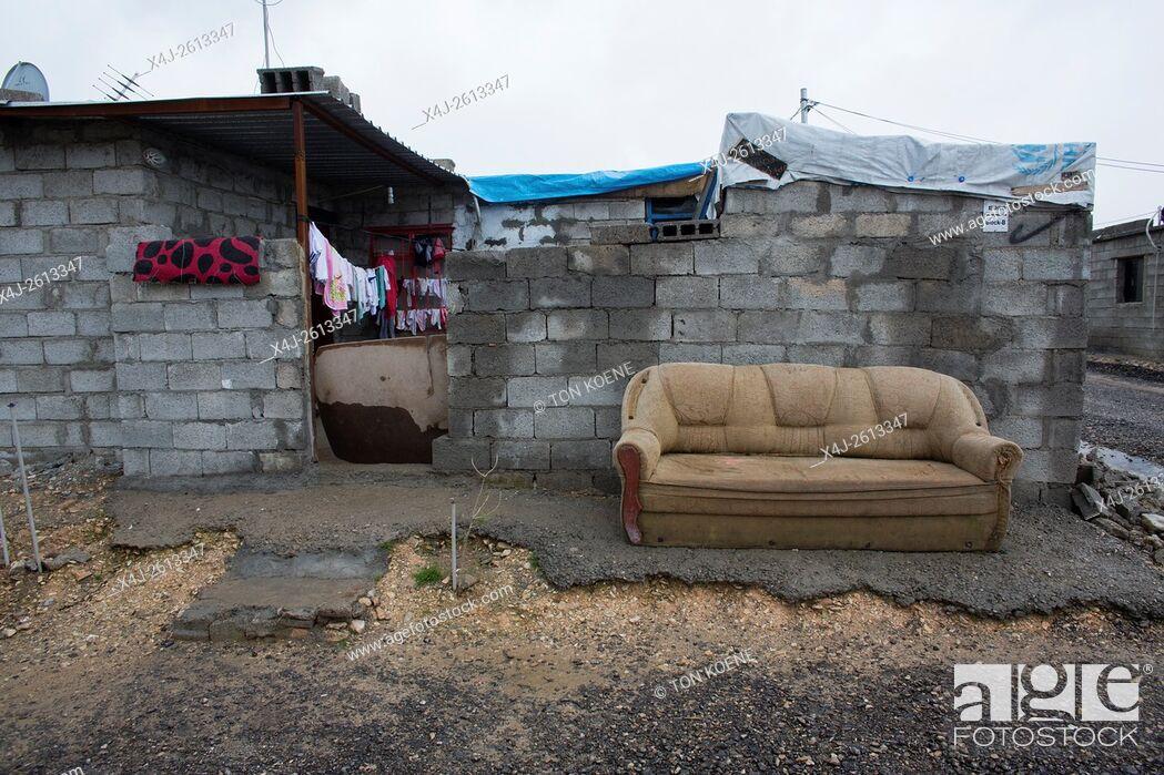 Stock Photo: house in Salarara refugee camp, Iraq.