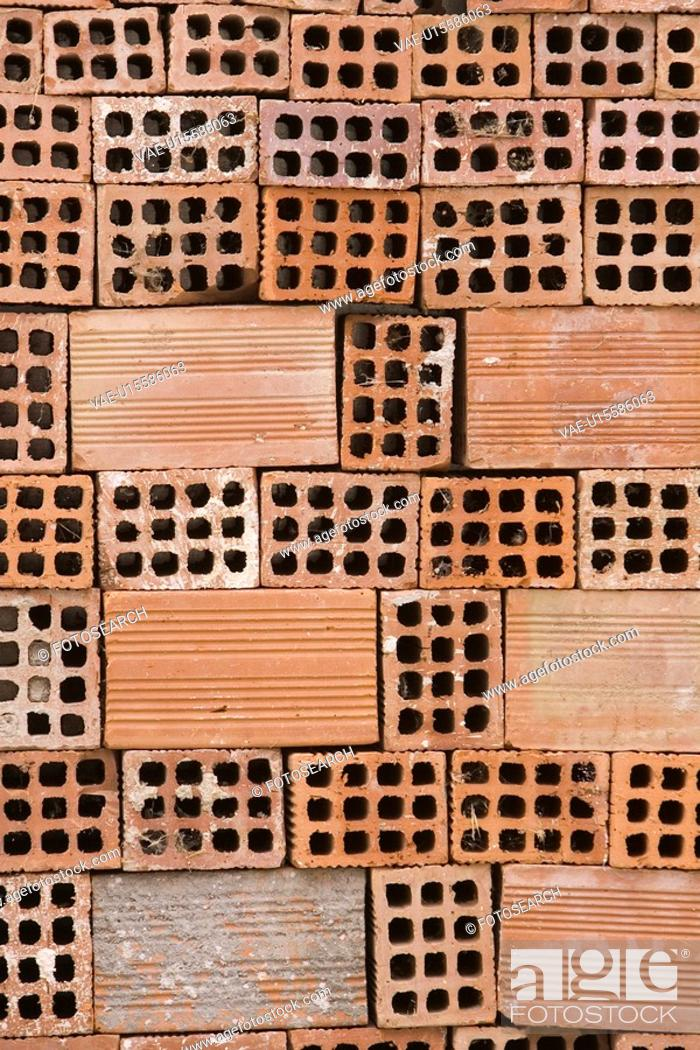 Stock Photo: Brick, Hole, Design, Close-Up, Arrangement.