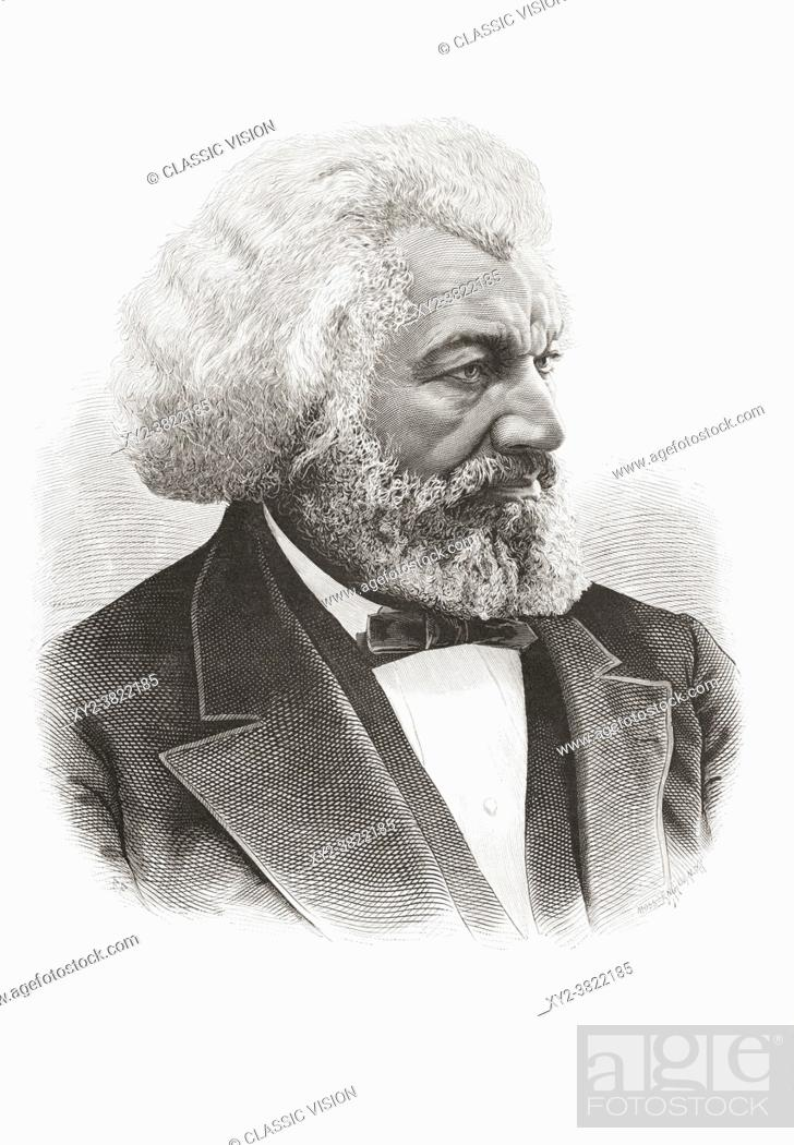 Stock Photo: Frederick Douglass, 1818 1895. African-American, who was born a slave, escaped and became an abolitionist, author, and statesman.