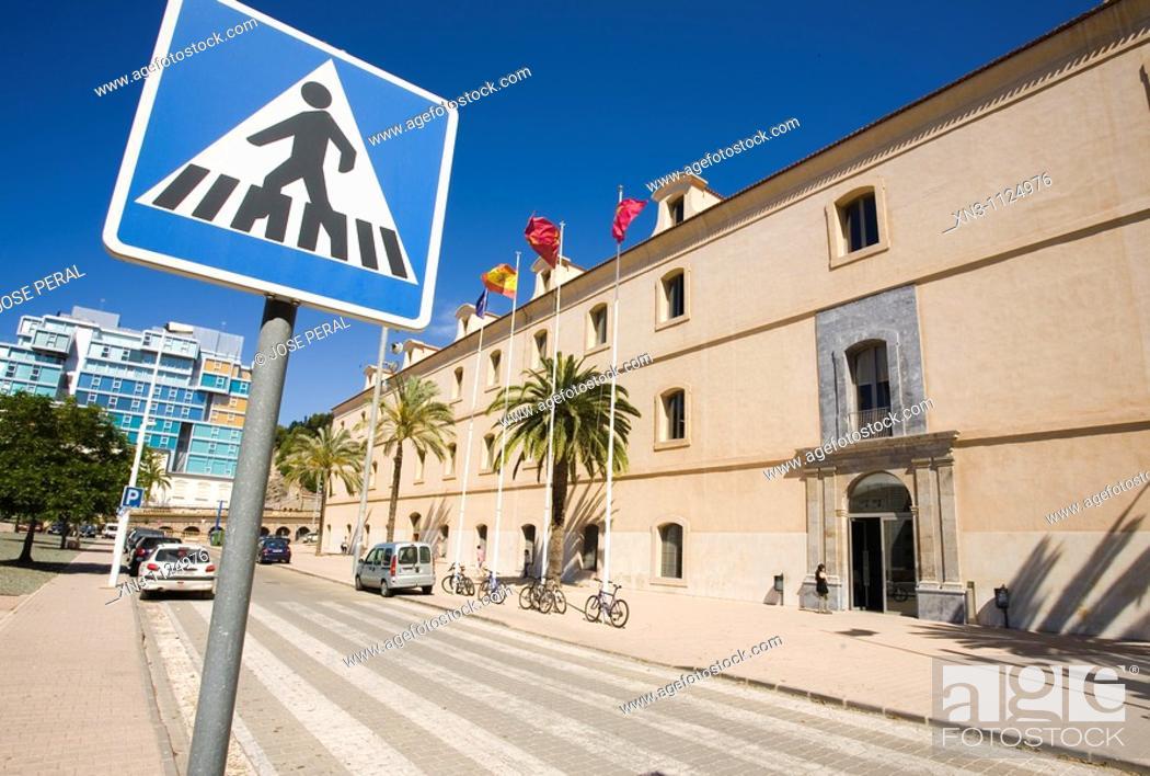 Stock Photo: University, former military hospital, Cartagena, Murcia, Costa Calida, Spain.