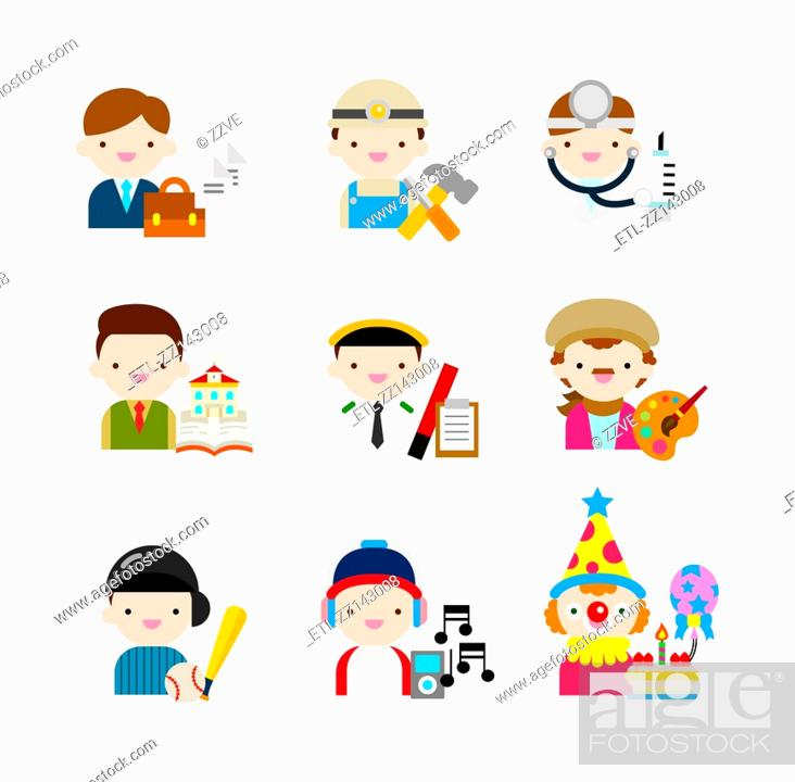 Stock Photo: People of various profession.