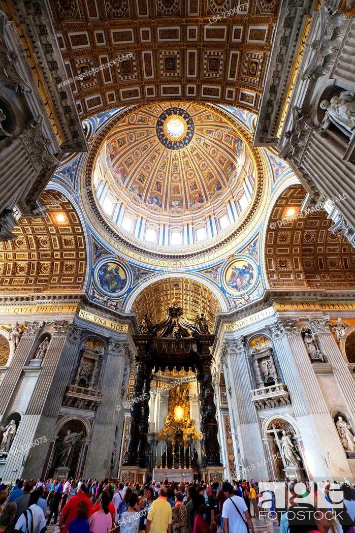 Stock Photo: St. Peter's Basilica Rome Italy IT EU Europe.