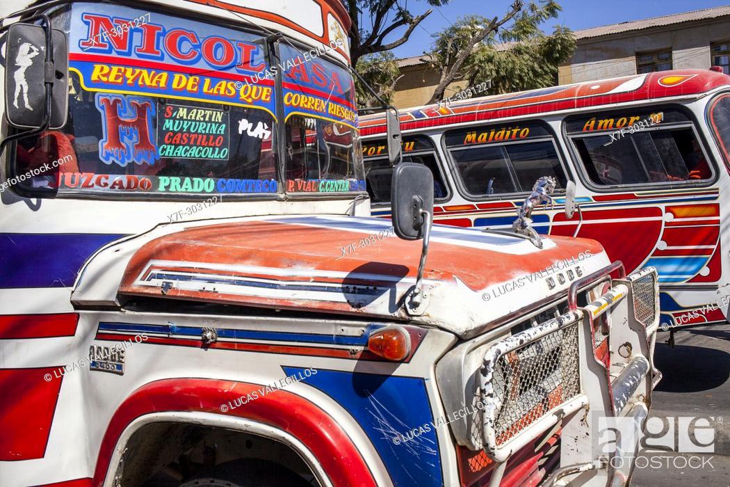 Stock Photo: Street scene, La Cancha market, Cochabamba, Bolivia.