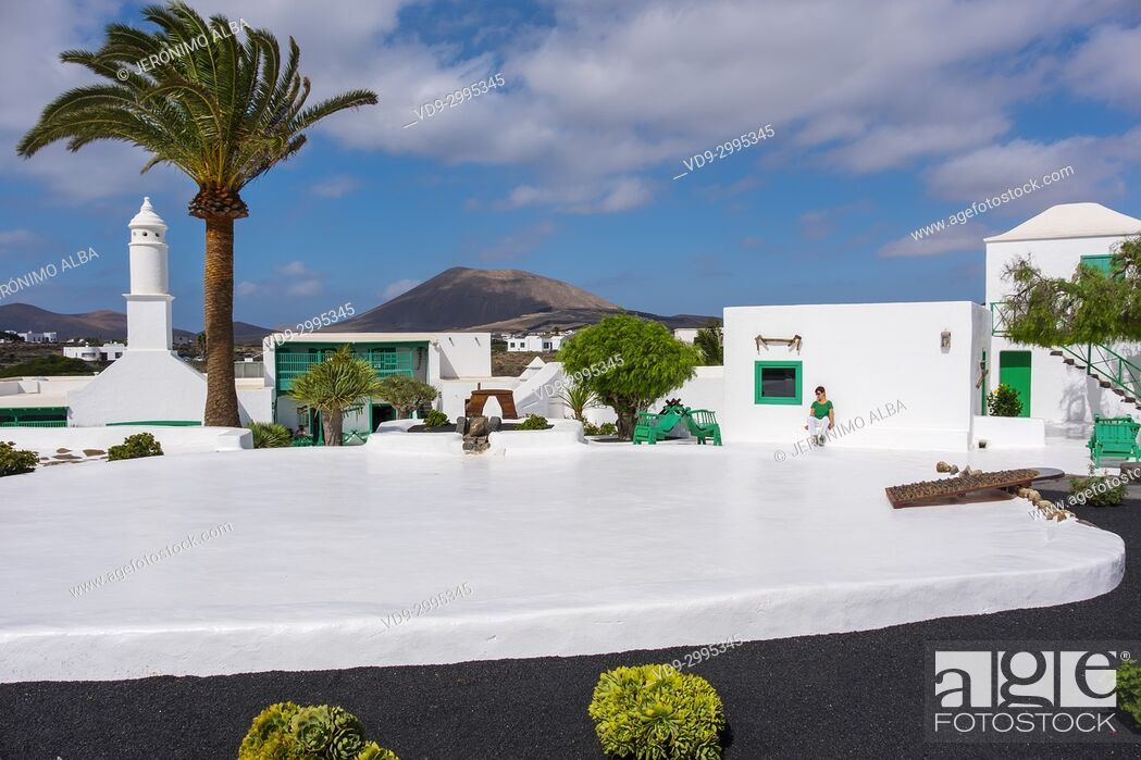 Stock Photo: Exterior view. Casa Museo del Campesino, monument to the Farmer. created by César Manrique. San Bartolome. Lanzarote Island, Canary islands, Spain, Europe.