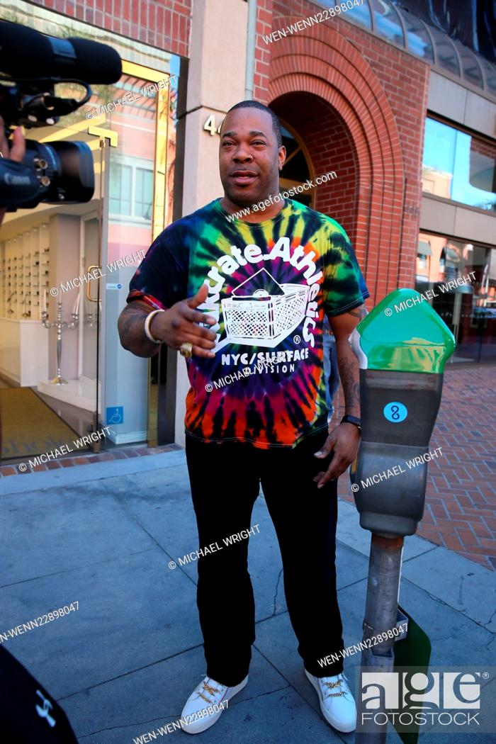 Busta Rhymes spotted at HSBC bank in Beverly Hills Featuring