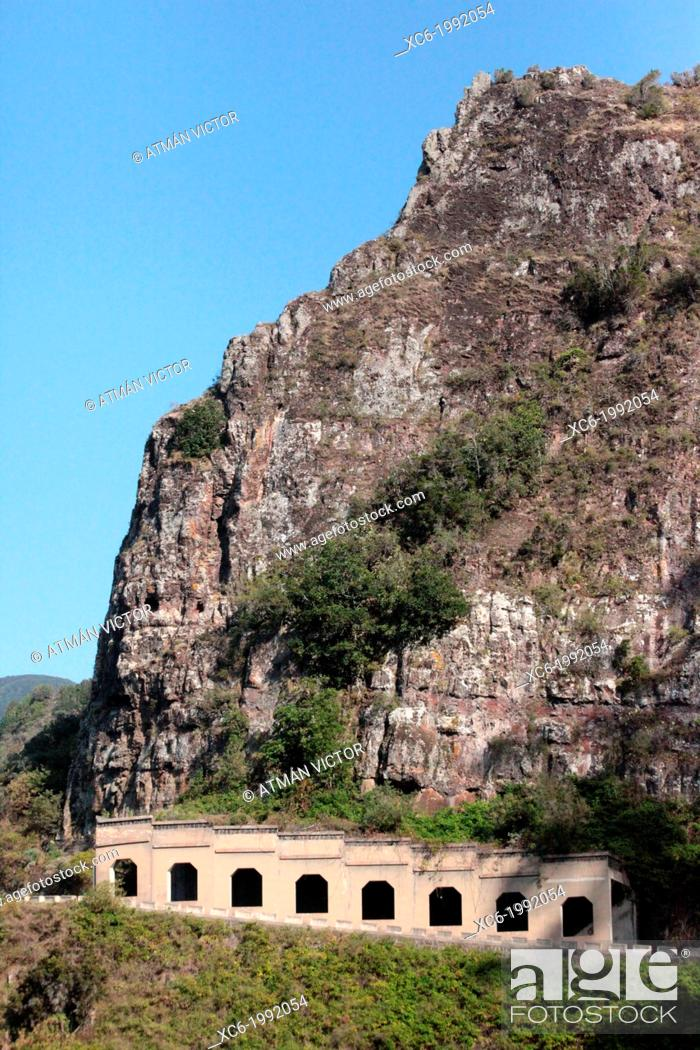 Stock Photo: road tunnel and rock in Batan municipality Tenerife island.