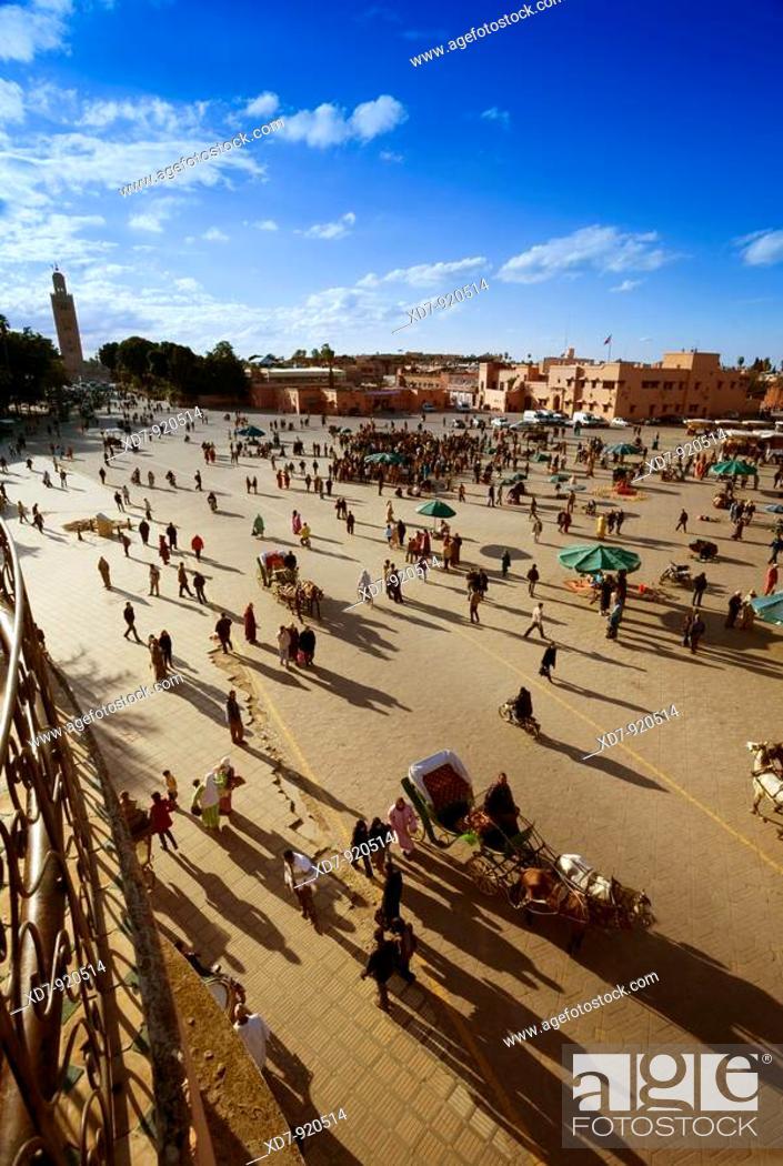 Imagen: Morocco Marrakesh Place Djemaa el-Fna.