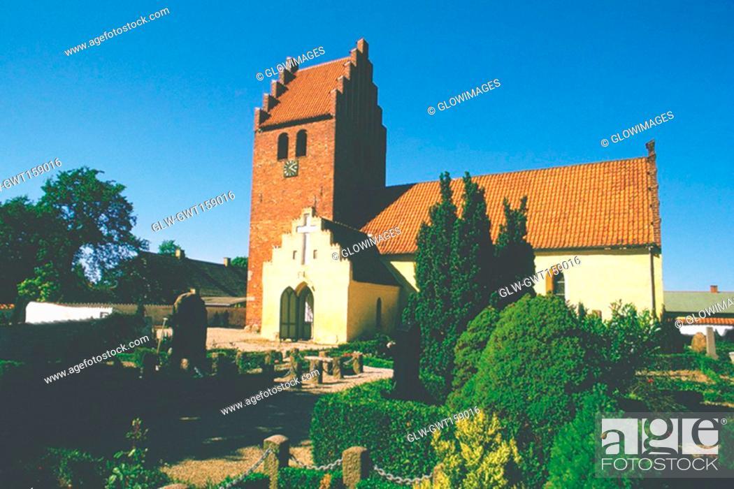 Stock Photo: Facade of a church, Copenhagen, Denmark.