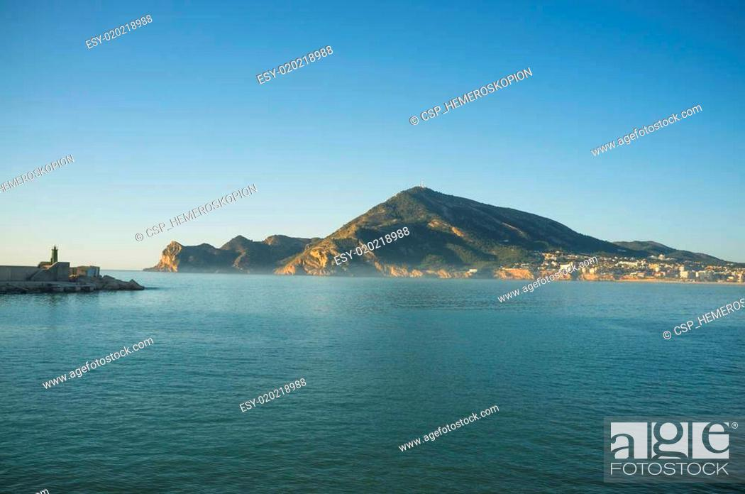 Stock Photo: Early morning on Altea bay.
