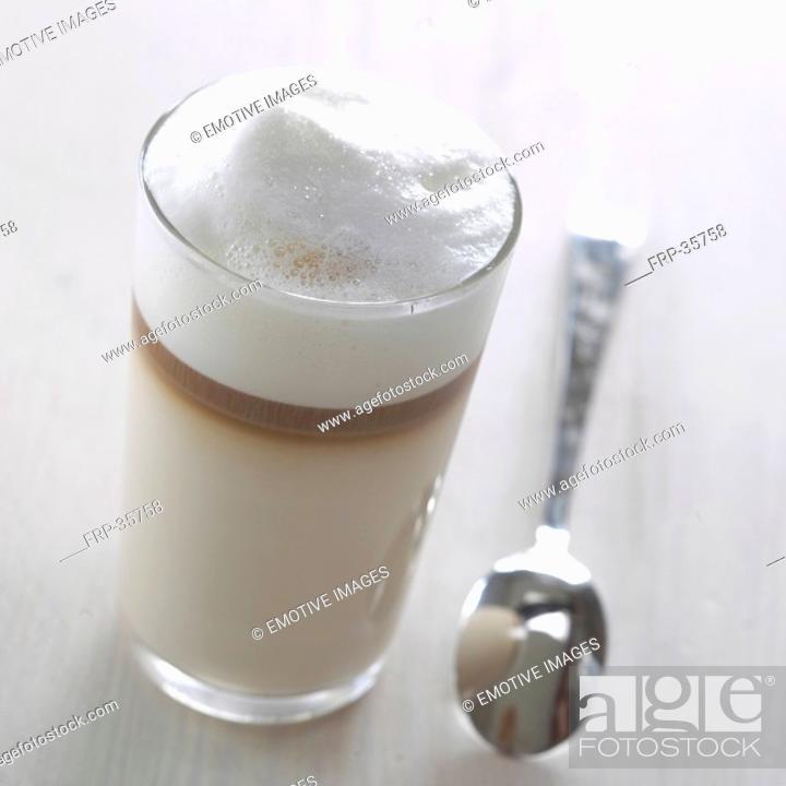 Stock Photo: Latte Macchiato.