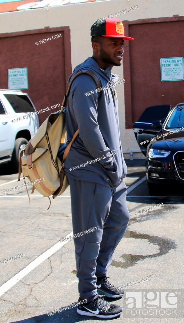 Stock Photo: Celebrities at the 'Dancing with the Stars' rehearsal studios Featuring: Antonio Brown Where: Hollywood, California, United States When: 02 Apr 2016 Credit:.