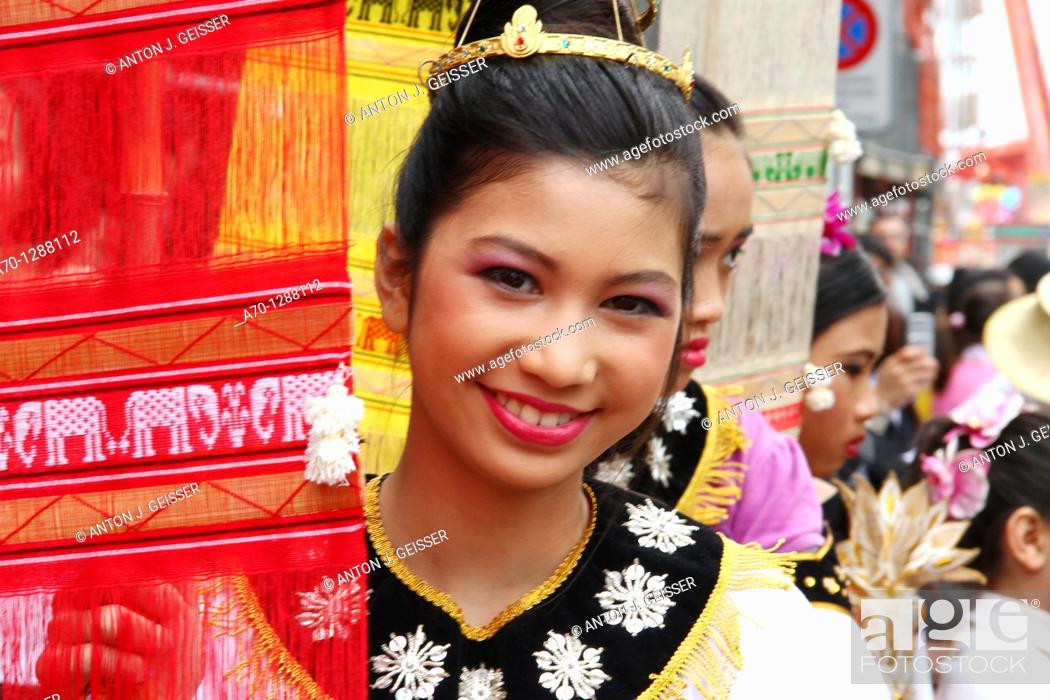 Stock Photo: Young Person ,Thailand City Celebration Zurich, Switzerland.