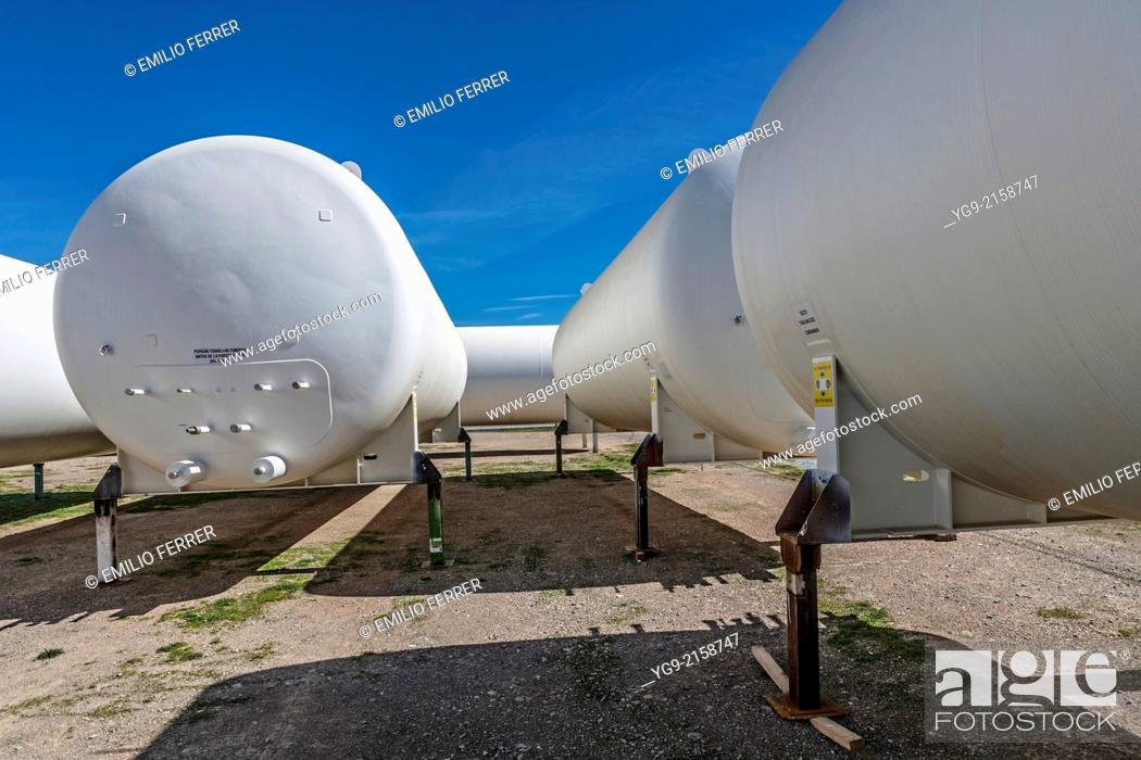 Stock Photo: Chemical containers. Anglesola. Lleida, Catalonia. Spain.