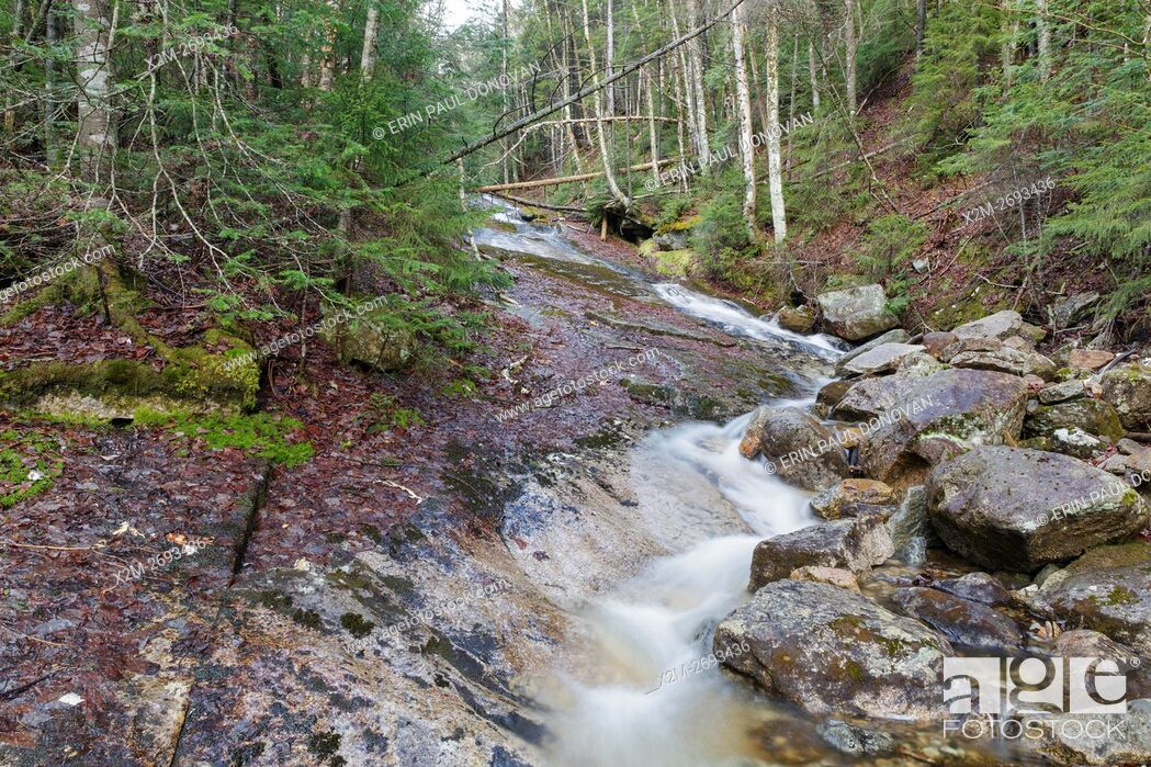Stock Photo: Tecumseh Brook in Waterville Valley, New Hampshire during the spring months.
