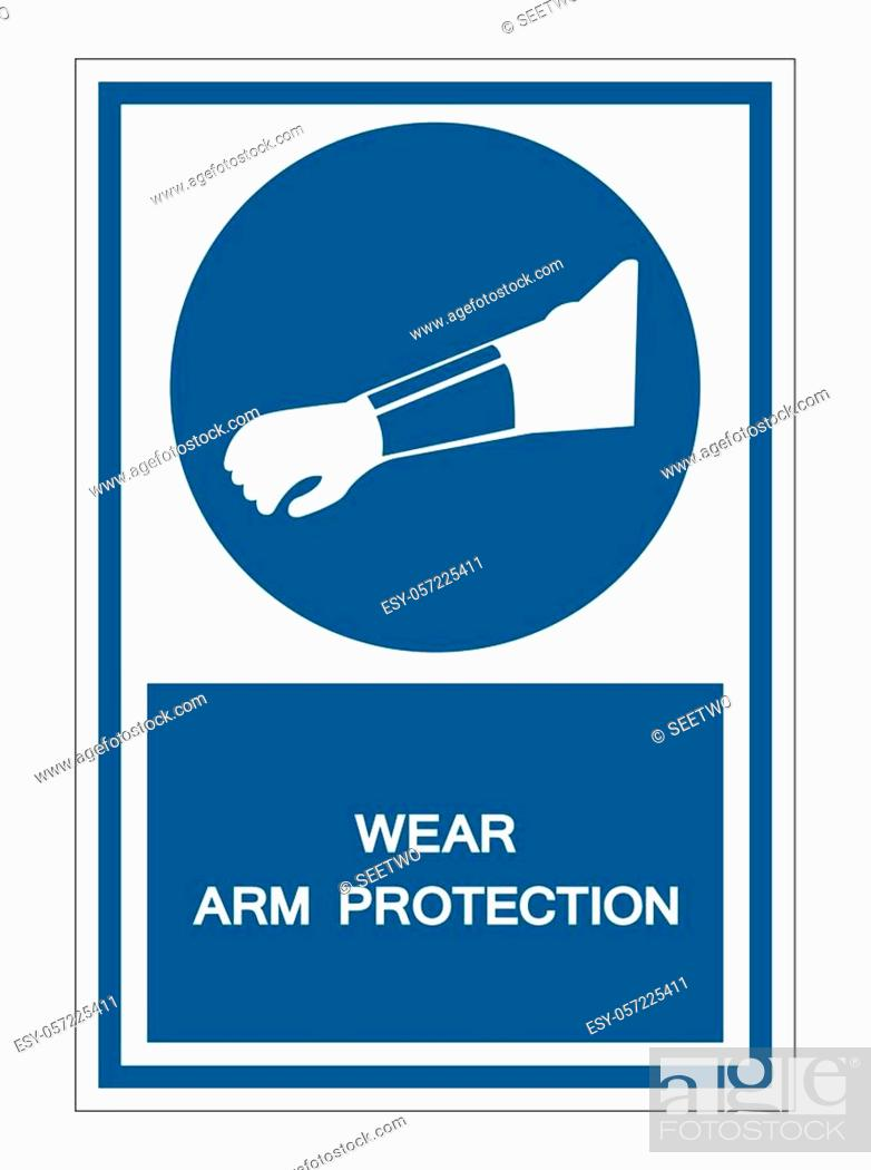 Stock Vector: Symbol Wear Arm Protection Sign Isolate On White Background, Vector Illustration EPS. 10.