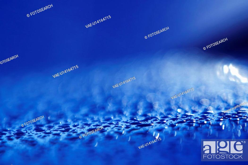Stock Photo: Blue, Dew, Design, Close-Up, Appearance.