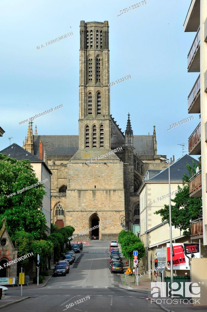 Stock Photo: LIMOGES FRANCE Limoges Cathedral Cathédrale Saint-Étienne de Limoges is a Roman Catholic cathedral, and a national monument of France.