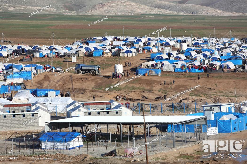 Stock Photo: refugee camp in Northern Iraq.