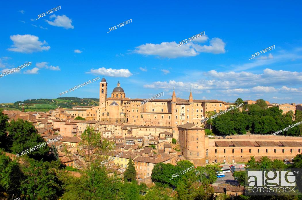 Stock Photo: Urbino, Marche, Italy, Europe, UNESCO World Heritage site.