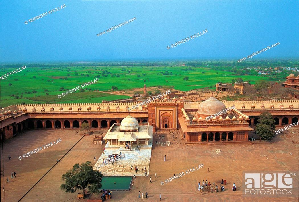 Stock Photo: Saint salim chisti, fatehpur, sikri, agra, uttar pradesh, india, asia.
