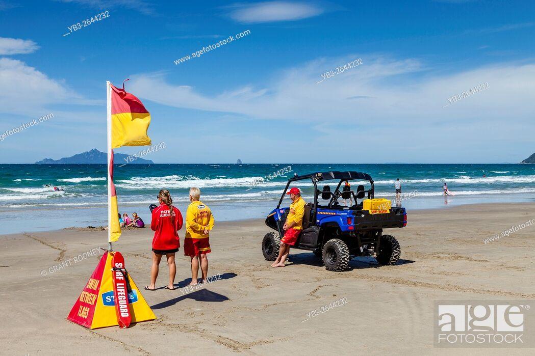 Stock Photo: Lifeguards At Waipu Cove, Waipu, Northland, New Zealand.