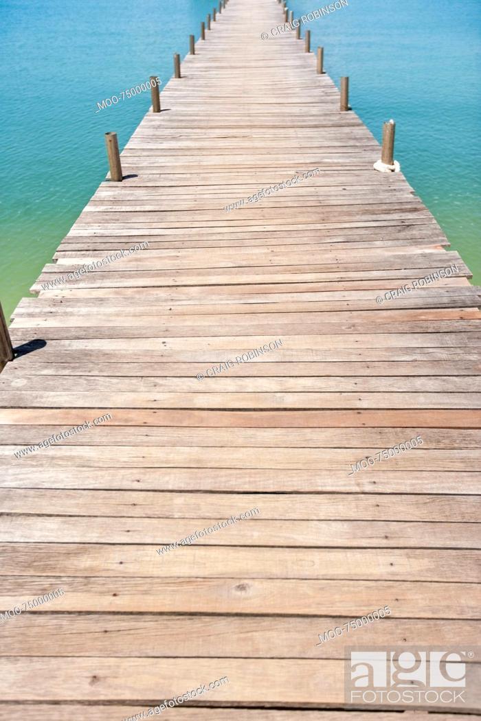 Stock Photo: Na Pra Lan Pier on Koh Samui island, Thailand.