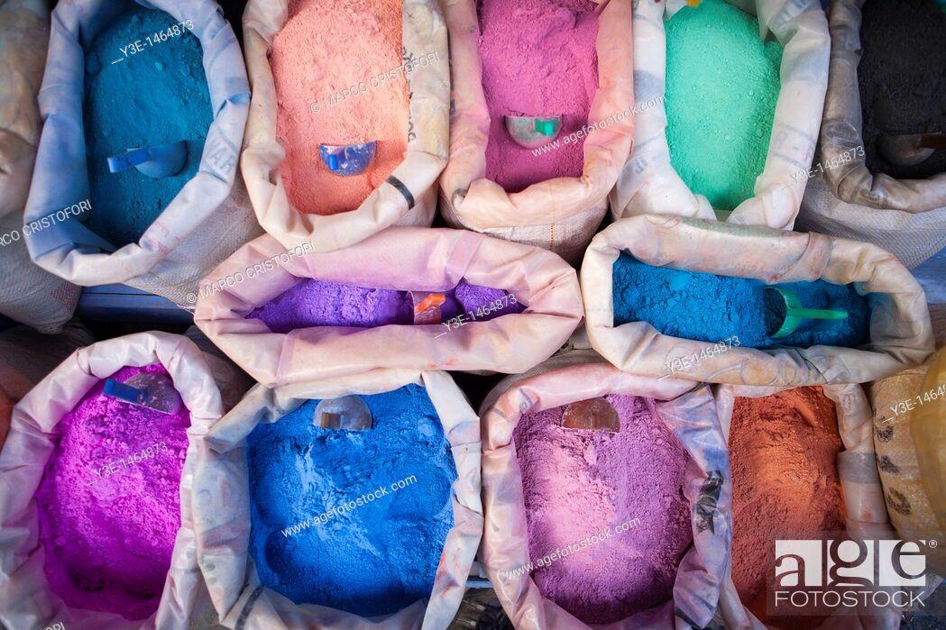Stock Photo: Pigments, Medina, Chefchaouen, Morocco.