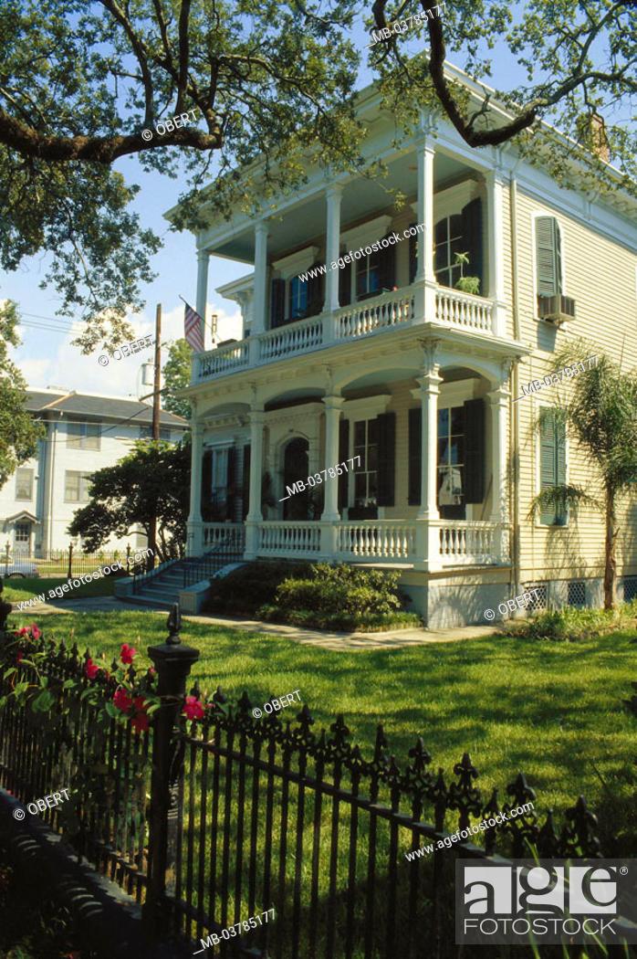 Usa New Orleans Guards District Sudstaatenvilla Garden North