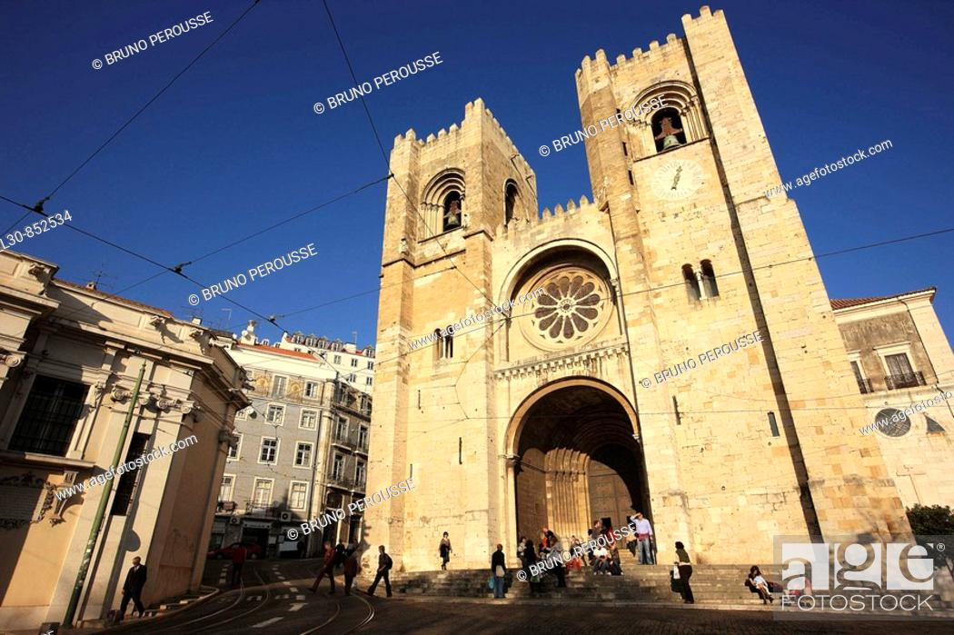 Stock Photo: 'Se' cathedral, Lisbon, Portugal.