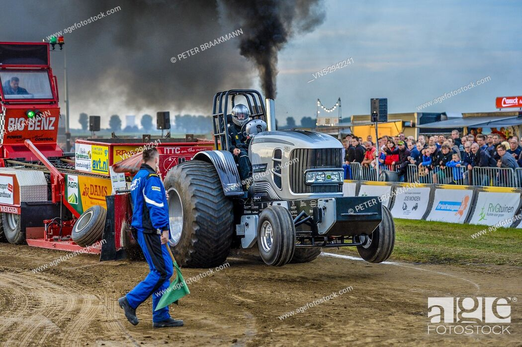 Stock Photo: Tractor Pull event in Holland.