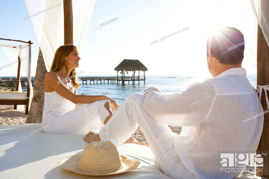 Stock Photo: Couple relaxing holidays.